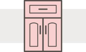 Arch cabinet door